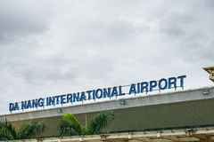 Aeropuerto internacional de Da Nang en Vietnam imagen de archivo