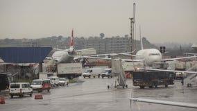 Aeropuerto internacional de Guarulhos en Sao Paulo, el Brasil. Imágenes de archivo libres de regalías