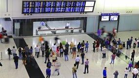Aeropuerto internacional de Hong-Kong del pasillo de la llegada Imagen de archivo libre de regalías