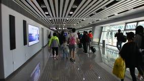 Aeropuerto internacional de Jieyang Chaoshan en Shantou en Guangdong, China metrajes