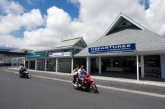 Aeropuerto internacional de Rarotonga - cocinero Islands Foto de archivo libre de regalías