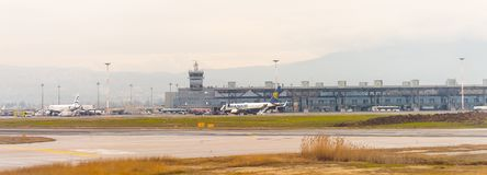 Aeropuerto internacional de Salónica Fotos de archivo