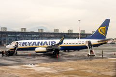 Aeropuerto internacional de Salónica Fotos de archivo libres de regalías