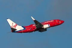 Aeropuerto internacional de salida de Boeing 737-7FE VH-VBZ Melbourne de las líneas aéreas de Virgin Blue Imagenes de archivo