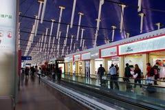 Aeropuerto internacional de Shanghai Pudong, China Foto de archivo