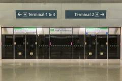 Aeropuerto internacional de Singapur Changi Fotos de archivo libres de regalías
