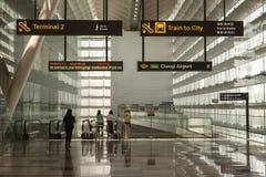 Aeropuerto internacional de Singapur Changi Foto de archivo libre de regalías