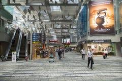 Aeropuerto internacional de Singapur Changi Imágenes de archivo libres de regalías