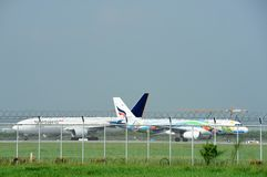 Aeropuerto internacional de Suvarnabhumi, Bangkok Tailandia foto de archivo