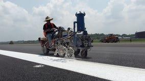 Aeropuerto internacional del katunayaka de las marcas de camino fotografía de archivo libre de regalías