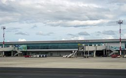 The Aeropuerto International Daniel Oduber Quiros LIR airport in Costa Rica Royalty Free Stock Images