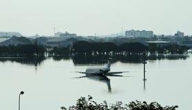 Aeropuerto inundado en Bangkok Fotografía de archivo libre de regalías