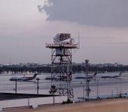 Aeropuerto inundado - Tailandia imagenes de archivo