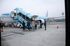 Aeropuerto, Korean Air, Corea del Sur foto de archivo libre de regalías