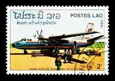 Aeropuerto, 9no aniversario del serie de la república, circa 1984 Fotos de archivo