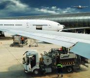 Aeropuerto ocupado Fotos de archivo libres de regalías