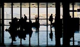 Aeropuerto ocupado Imágenes de archivo libres de regalías