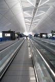 Aeropuerto Pasillo (Hong-Kong) Fotografía de archivo
