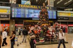 Aeropuerto Sao Paulo de la Navidad Foto de archivo libre de regalías