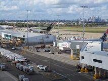 Aeropuerto Sydney del lugar de trabajo Imagen de archivo libre de regalías