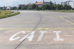 Aeropuerto viejo Berlín Alemania del feld de Tempelhofer Imagen de archivo