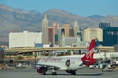 Aeropuerto y horizonte de Las Vegas Imagenes de archivo