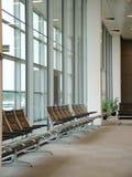 Aeropuerto - zona de espera Imágenes de archivo libres de regalías