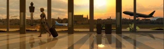 aeropuertoilustracion 3d Royaltyfria Bilder
