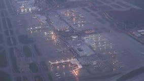 Aeropuertos, aviones, aeroplanos, terminales almacen de video