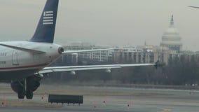 Aeropuertos del Washington DC, edificio del capitolio metrajes