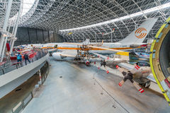 Aeroscopia博物馆,在图卢兹附近,南法国 库存照片
