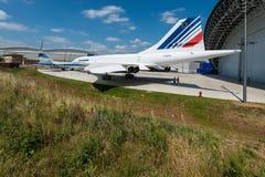 Aeroscopia博物馆,在图卢兹附近,南法国 图库摄影