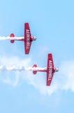 AeroShell aerobatic team airplanes Stock Image