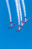 AeroShell aerobatic team airplanes Royalty Free Stock Image
