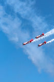 AeroShell aerobatic team airplanes Royalty Free Stock Photo