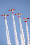 AeroShell aerobatic team airplanes Royalty Free Stock Photos