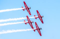 AeroShell aerobatic team airplanes Stock Photo