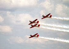 The Aeroshell Aerobatic Team Stock Photo