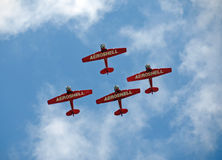 Aeroshell Aerobatic team flying over Florida Stock Photo