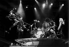 Aerosmith在波士顿庭院,波士顿,由埃里克L的麻省执行1994年12月 约翰逊摄影 免版税库存照片