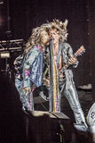 Aerosmith在莫斯科2015年9月 免版税库存图片