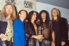 Aerosmith ai premi di musica di MTV fotografia stock libera da diritti