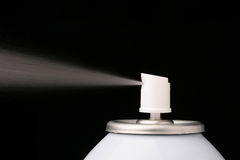Aerosol barrel. Used in the cosmetic, technical industries, and also in house use stock photography