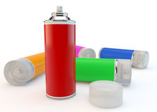 Aerosol cans Stock Photo