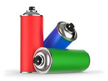 Aerosol cans Royalty Free Stock Photo