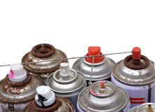 Aerosol cans Royalty Free Stock Photo