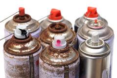 Aerosol cans Royalty Free Stock Images