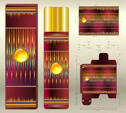 Aerosol cosmetic aromes of red tones Stock Photography