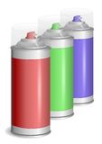 Aerosol paint spray. Royalty Free Stock Images
