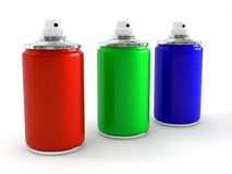 Aerosol RGB Royalty Free Stock Photos